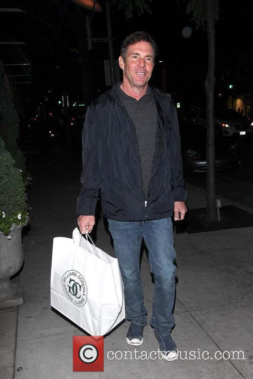 Dennis Quaid shopping in Beverly Hills