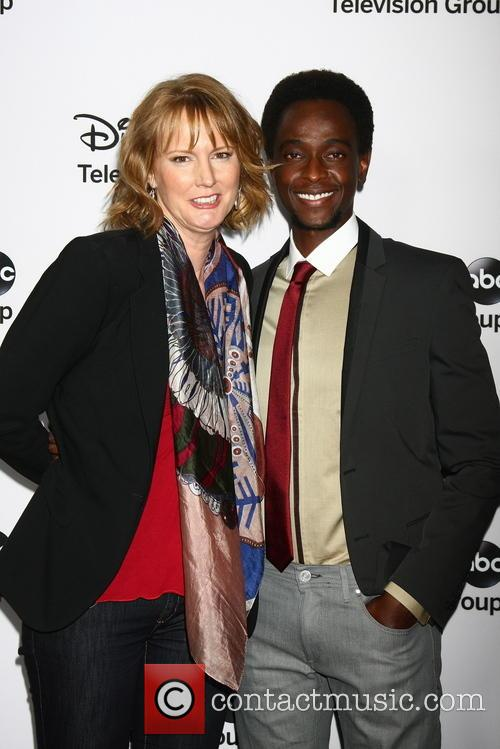 Melissa Rosenberg and Edi Gathegi 4