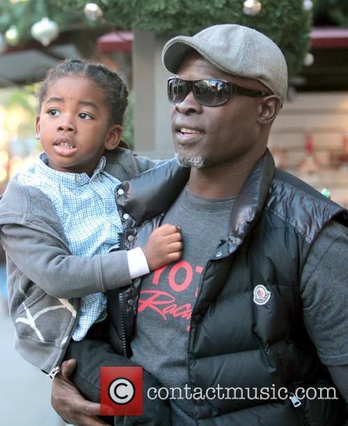 Djimon Hounsou and Kenzo Hounsou 5