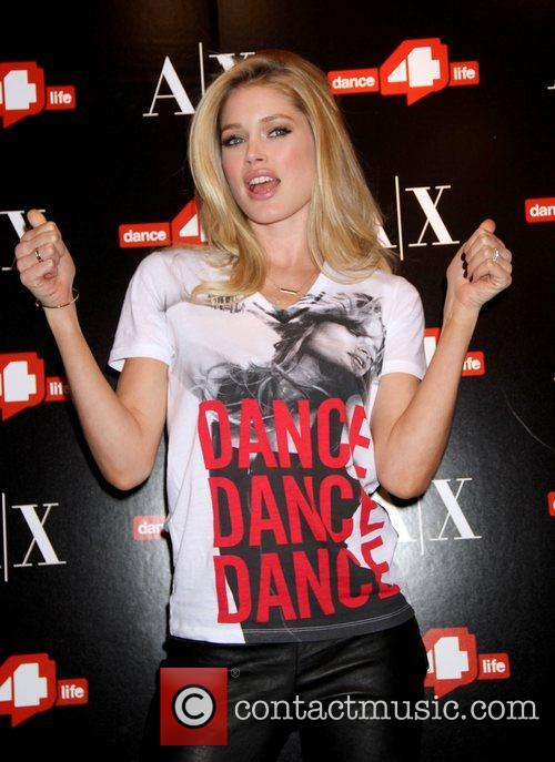 Unveils the 'A/X Armani Exchange Dance4life' t-shirt in...