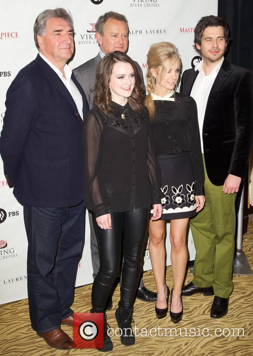 Jim Carter, Sophie Mcshera, Hugh Bonneville, Joanne Froggatt, Rob James-collier and Downton Abbey 6