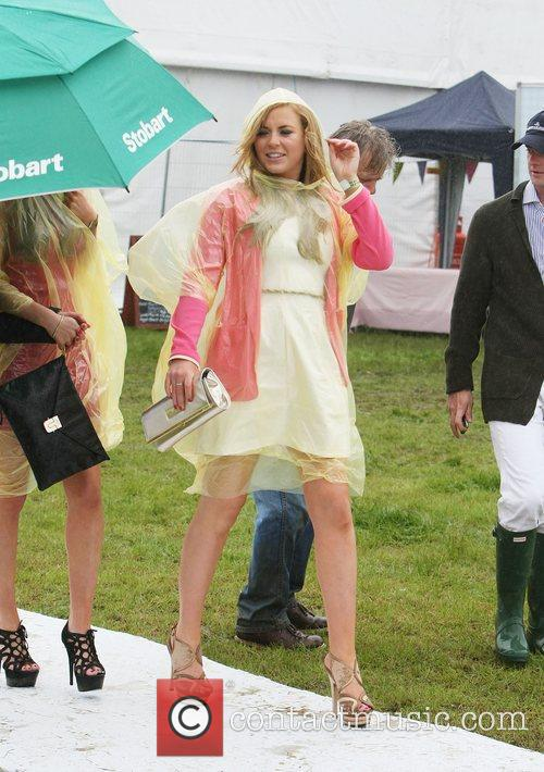 Arrives for the 2012 Duke of Essex Polo...