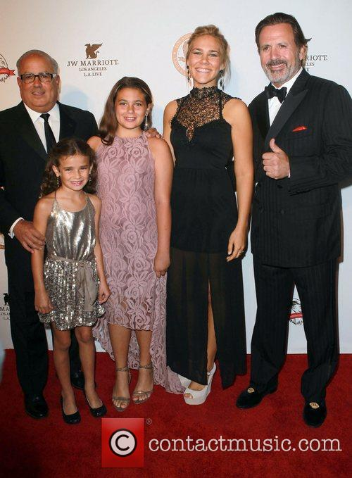 Peter R. Repovich with hiis daughters and Frank...