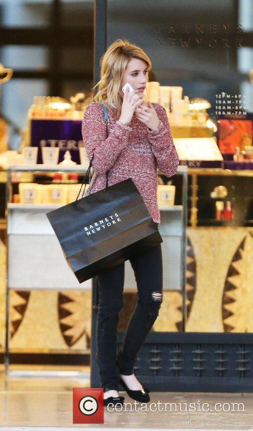 Emma Roberts leaving Barneys New York store Beverly...
