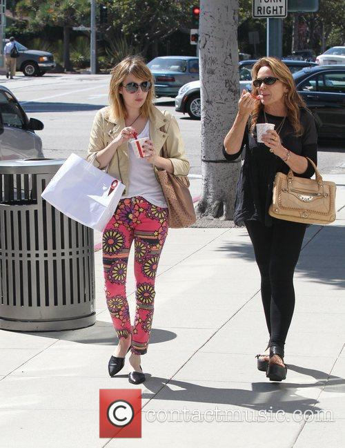 Emma Roberts and her mother Kelly Cunningham enjoying...