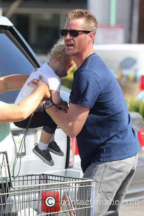 Eric Dane and his daughter Billie leaving Whole...