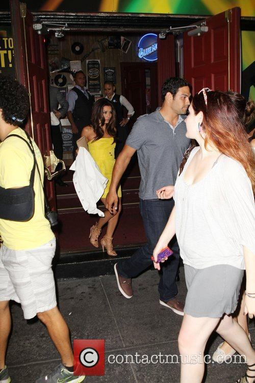 Eva Longoria and Mark Sanchez out and about...