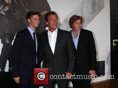 Patrick Schwarzenegger, Arnold Schwarzenegger and Christopher Schwarzenegger