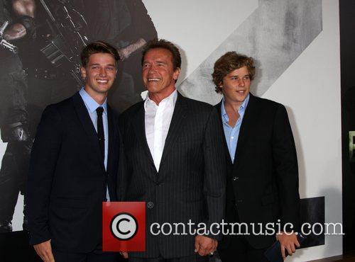 Patrick Schwarzenegger and Arnold Schwarzenegger 4