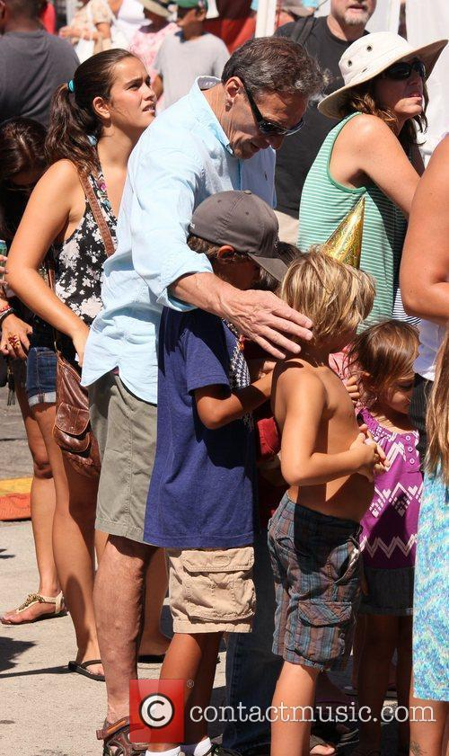Maury Povich and family celebrities attend the Fiesta...