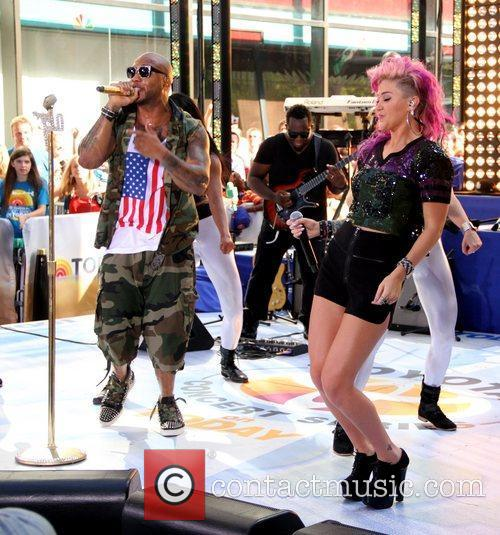 Flo Rida and StayC perform at the Toyota...