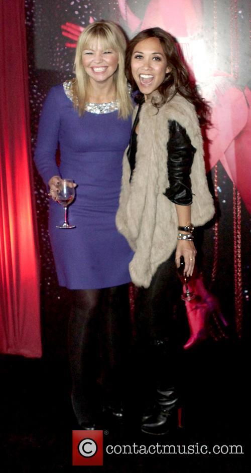 Kate Thornton; Myleene Klass Celebrities at the Forever...