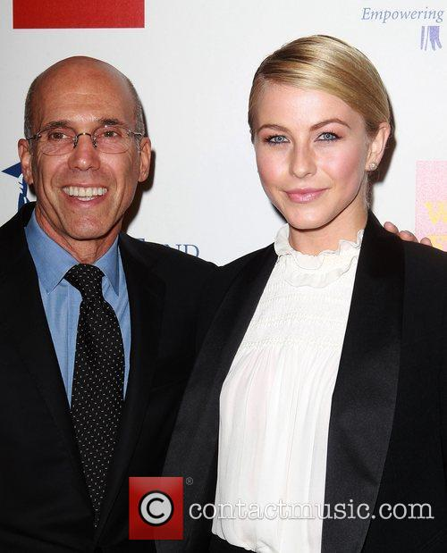 Jeffrey Katzenberg, Julianne Hough and Beverly Hilton Hotel 2
