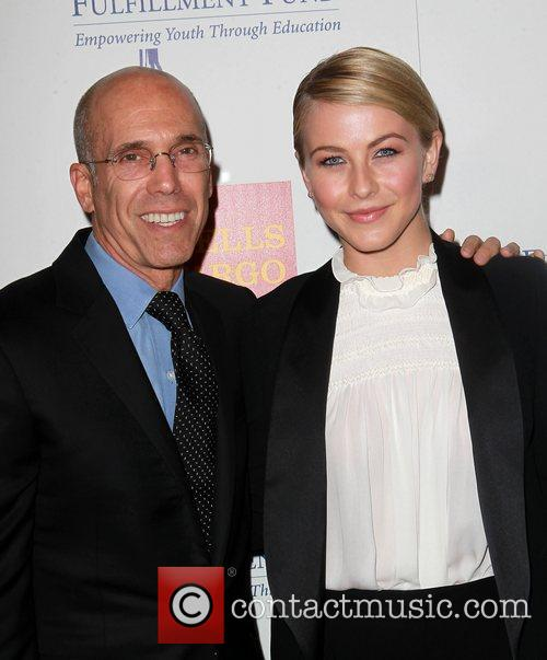 Jeffrey Katzenberg, Julianne Hough and Beverly Hilton Hotel 3