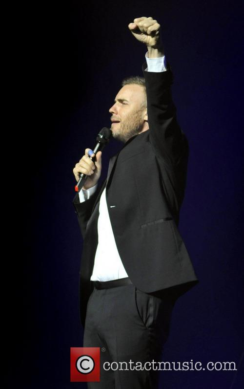 Gary Barlow performing Live at the New Theatre,...