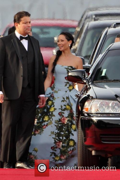 Lucy Liu and Beverly Hilton Hotel 2