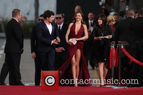 Orlando Bloom, Miranda Kerr and Beverly Hilton Hotel 48