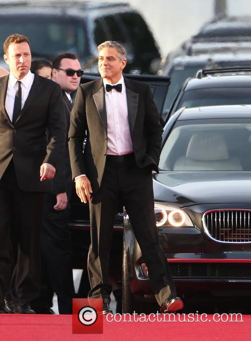 George Clooney and Beverly Hilton Hotel 24