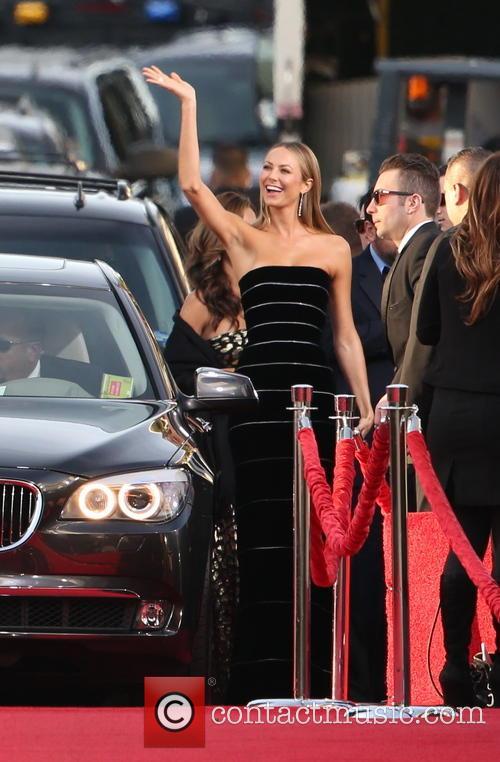 Stacy Keibler Golden Globes Dress 2013