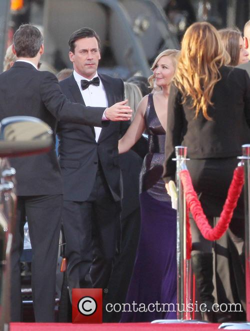 Jon Hamm, Jennifer Westfeldt and Beverly Hilton Hotel 1