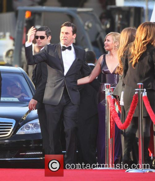 Jon Hamm, Jennifer Westfeldt and Beverly Hilton Hotel 2
