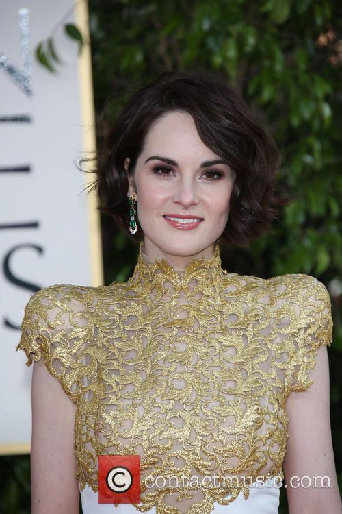 Michelle Dockery and Beverly Hilton Hotel 1