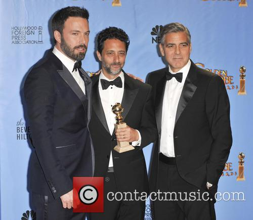 Grant Heslov, George Clooney, Ben Affleck and Beverly Hilton Hotel 1