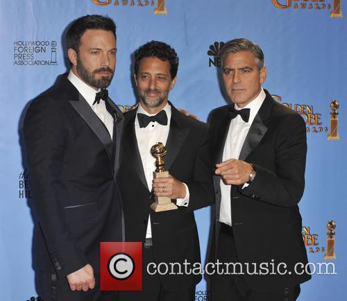 Grant Heslov, George Clooney, Ben Affleck and Beverly Hilton Hotel 4