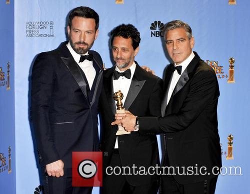 Grant Heslov, George Clooney, Ben Affleck and Beverly Hilton Hotel 3