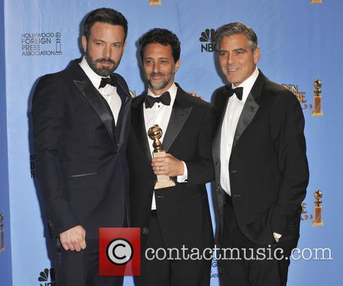 Grant Heslov, George Clooney, Ben Affleck and Beverly Hilton Hotel 2