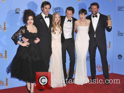 Helena Bonham Carter, Sacha Baron Cohen, Amanda Seyfried, Eddie Redmayne, Anne Hathaway, Hugh Jackman and Beverly Hilton Hotel 1