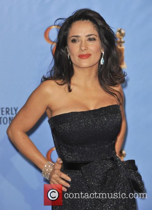 Salma Hayek and Beverly Hilton Hotel 3