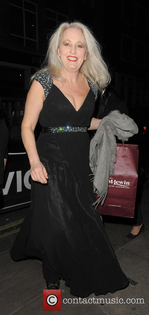 Debbie Douglas arriving at the TOWIE Christmas Party,...