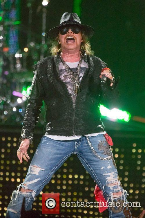 Axl Rose Performing At The Hard Rock Hotel, Las Vegas
