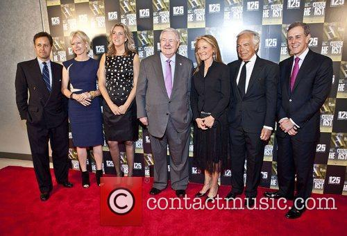 David Lauren, Joanna Coles, Leslie Iwerks, Frank Bannack Jr., Hearst Rikki Lauren, Ralph Lauren and David Carey 1