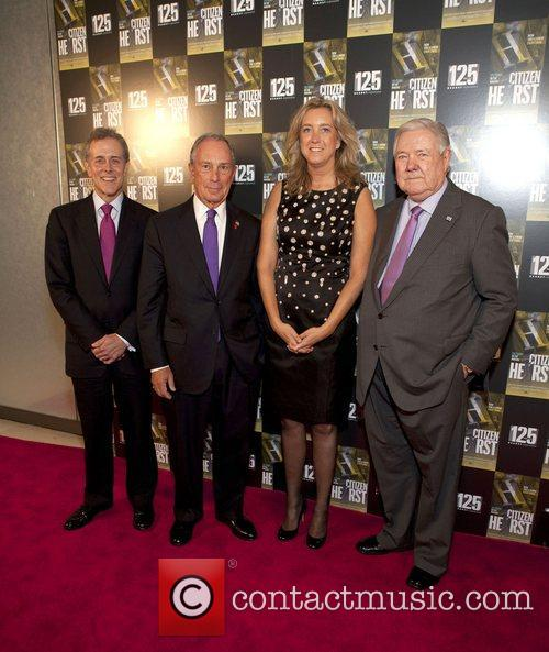 Steven R.swartz, Mayor Michael Bloomberg, Leslie Iwerks and Frank Bannack Jr 5