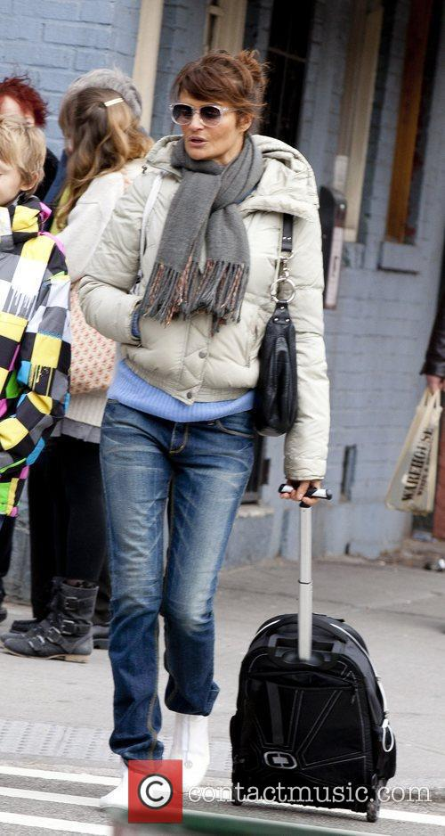 Helena Christensen Out and About in Greenwich Village...