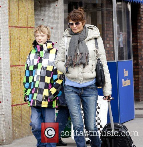 Mingus Lucien Reedus and his mother Helena Christensen...