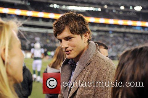 Actor Ashton Kutcher  during the Houston Texans...