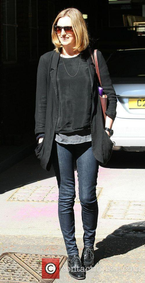 Laura Carmichael leaving the ITV studios London, England