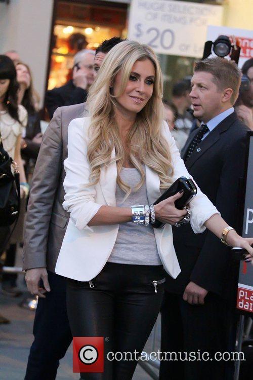 Claudine Keane arriving at Jennifer Lopez's new restaurant...