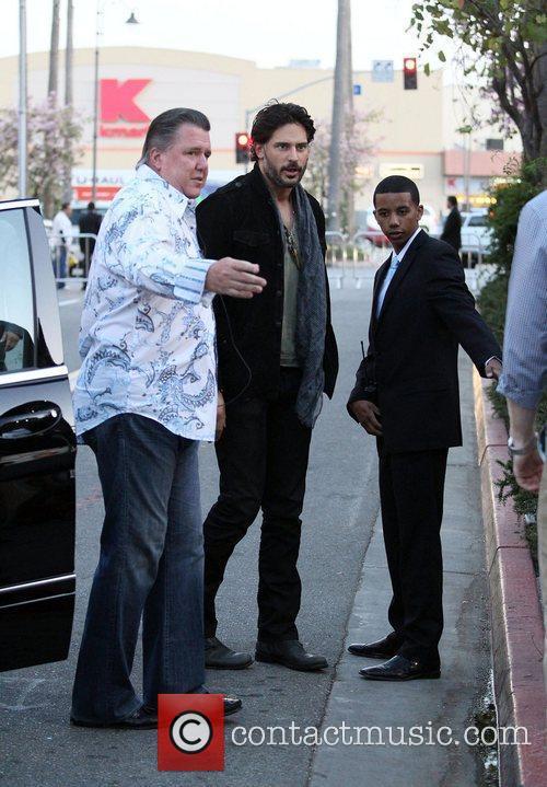 Joe Manganiello arriving at Jennifer Lopez's new restaurant...