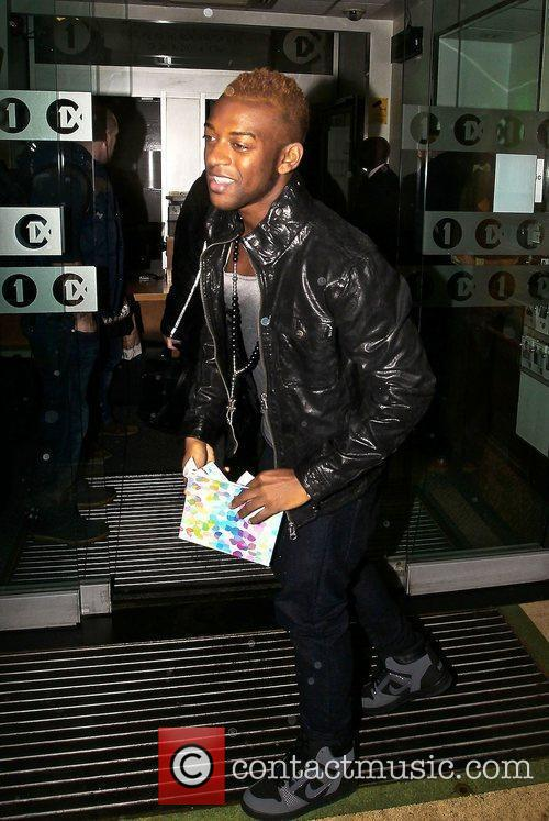 Oritse Williams from JLS arriving at the BBC...