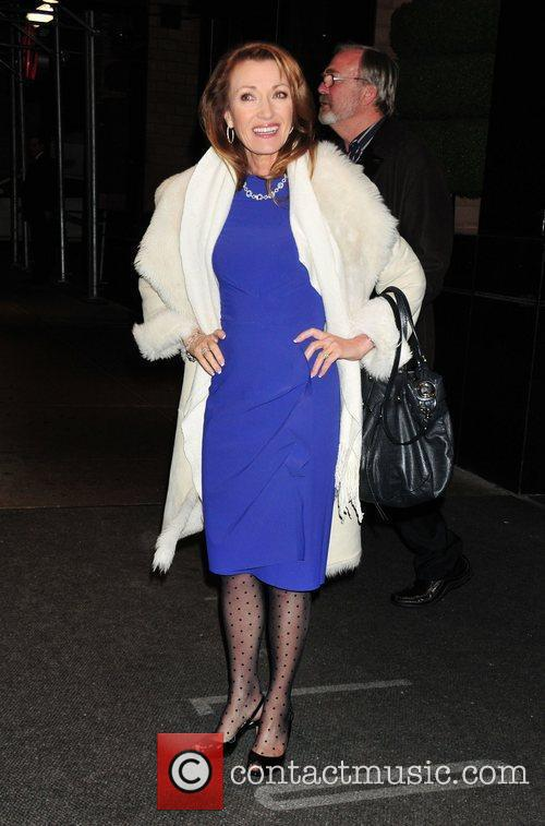 Jane Seymour leaving her midtown Manhattan hotel New...