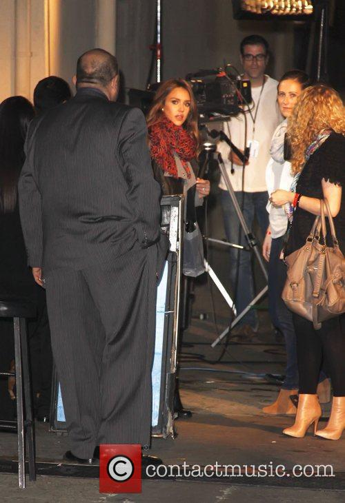 Jessica Alba meets with fans after appearing on...