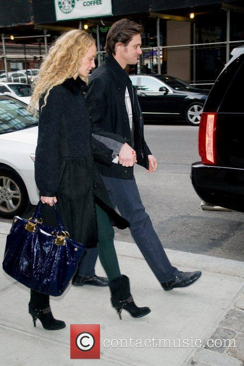 Jim Carrey and Anastasia Vitkina out and about...