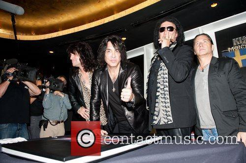 Members of U.S. rock band 'KISS' attend a...