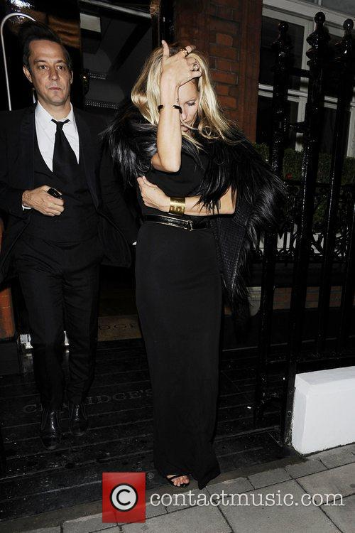 Leaving Claridges.