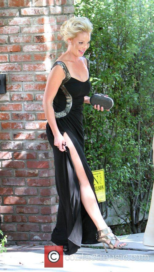 Katherine Heigl leaving her house Los Angeles, California