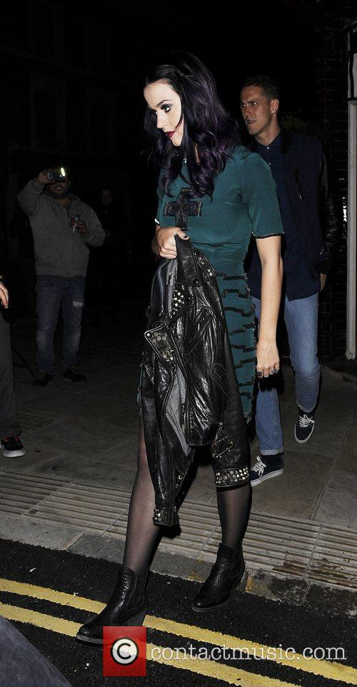 Katy Perry and Robert Ackroyd leaving The Dove...